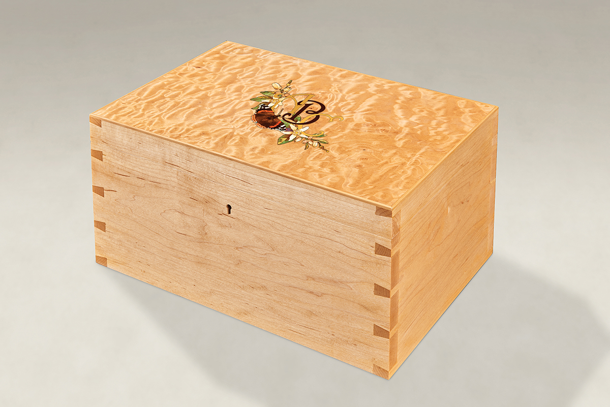 Distinguish Your Quilted Maple Dovetail Memory Boxes - Large
