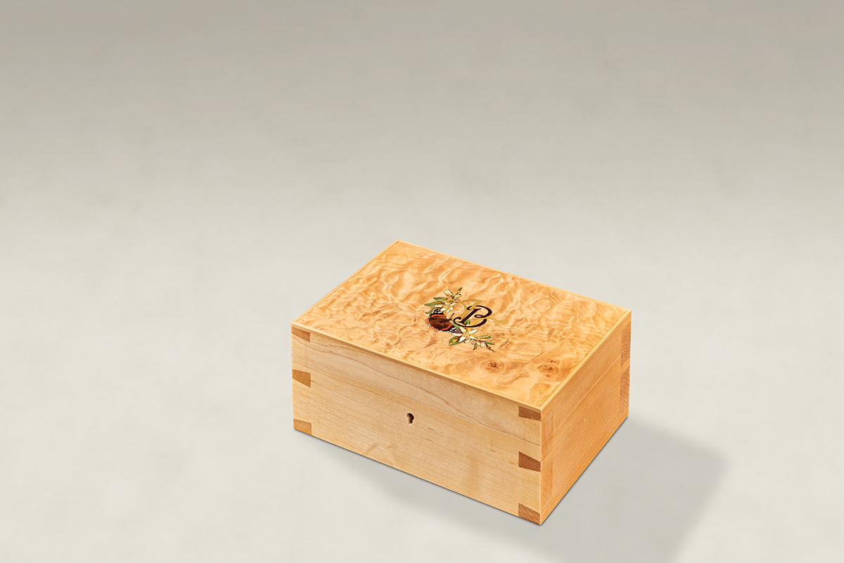 Distinguish Your Quilted Maple Dovetail Memory Boxes - Small