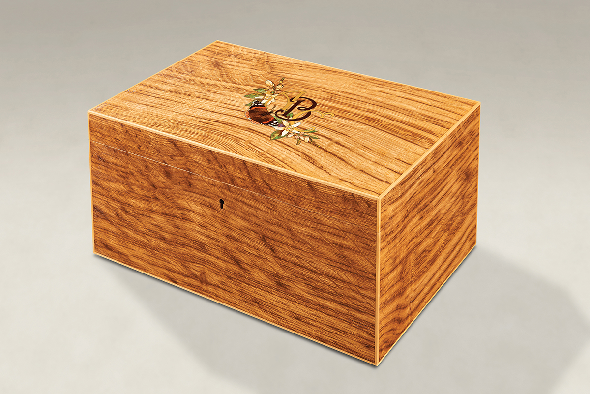 Distinguish Your Tiger Oak Memory Boxes - Large