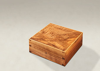 Figured Walnut Dovetail Memory Boxes - Medium