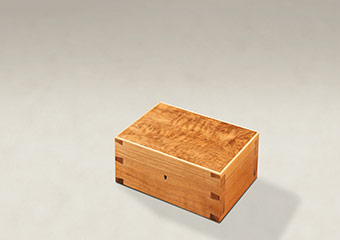 Figured Walnut Dovetail Memory Boxes - Small