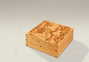 Burr Tiger Oak Dovetail Memory Boxes - Medium