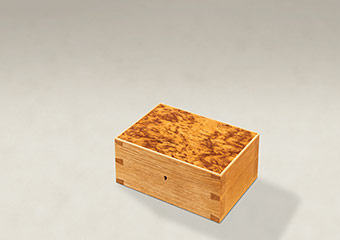 Burr Tiger Oak Dovetail Memory Boxes - Small