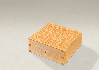 Quilted Maple Dovetail Memory Boxes - Medium