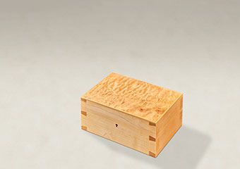 Quilted Maple Dovetail Memory Boxes - Small