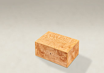 Quilted Maple Strung Memory Boxes - Small