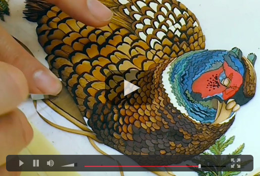 Marquetry Pheasant Video
