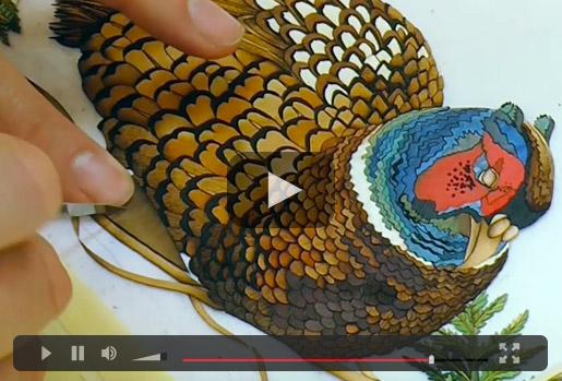 Marquetry Pheasant Video