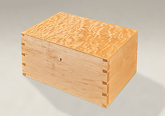 Quilted Maple Dovetail Memory Boxes - Large